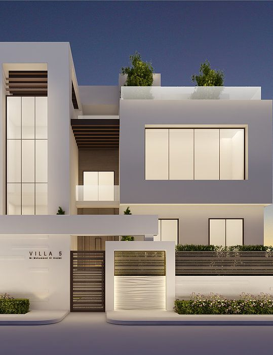 Modern villa exterior design by ions design for Villa moderne design