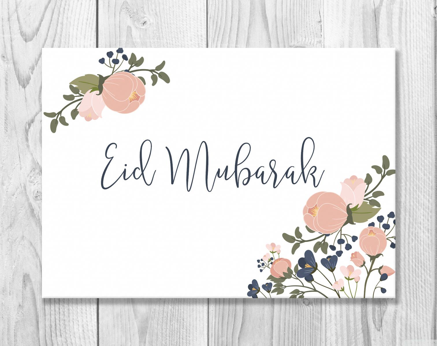 Printable Eid Mubarak Card - Eid Greeting Card - Happy Eid