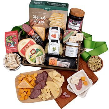 Cheer of Cheese Gift Basket | Gourmet Gift Baskets to the ...