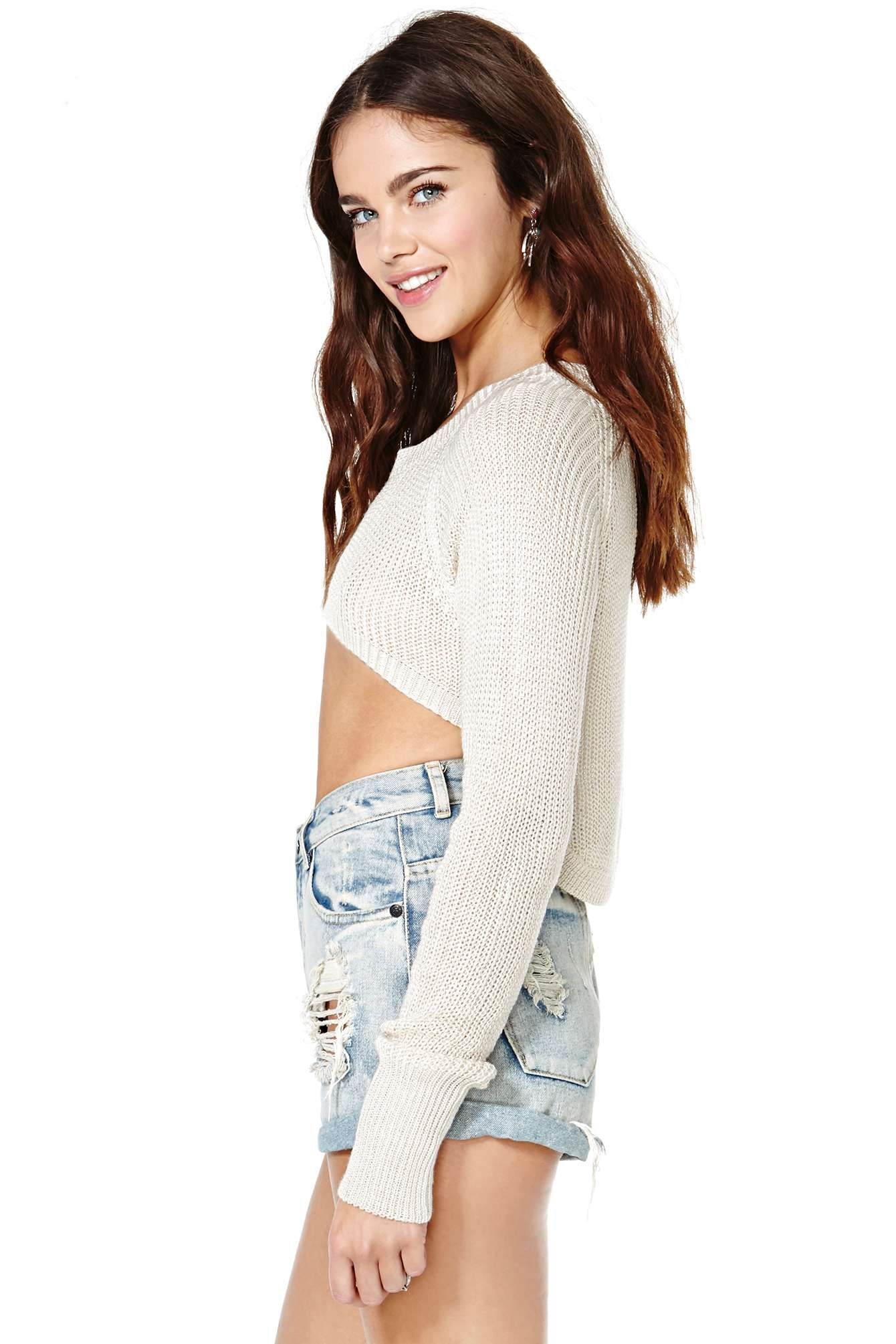 Never Forever Crop Sweater   Shop Tops at Nasty Gal