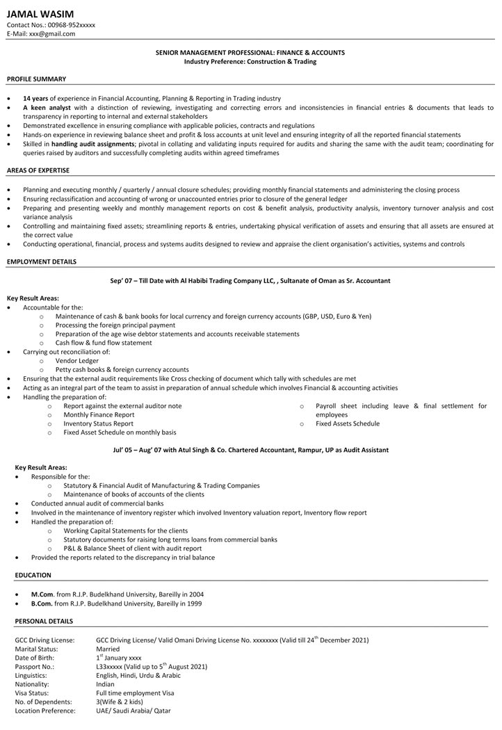 accountant resume format, accountant resume format in word