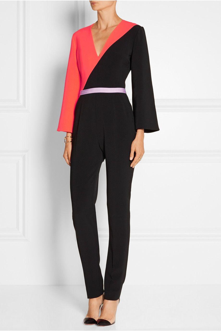 Roksanda   Malkyn two-tone stretch-cady jumpsuit   NET-A-PORTER