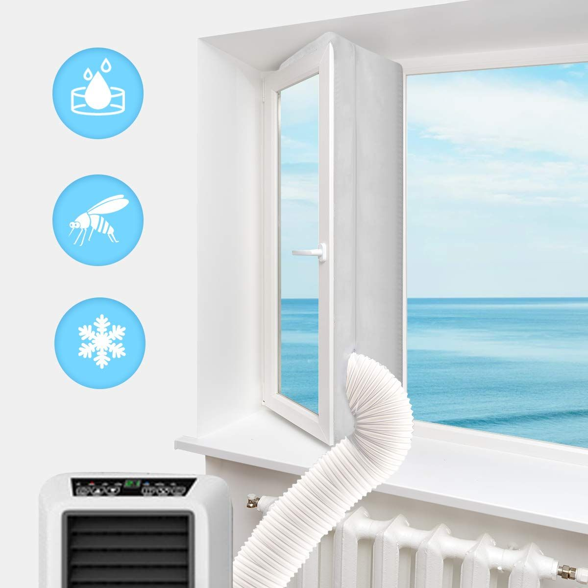 Portable Air Conditioner Window Seal Kit Luxiv 158 Inches Window Seal Kit For In 2020 Portable Air Conditioner Window Mobile Air Conditioner Portable Air Conditioning