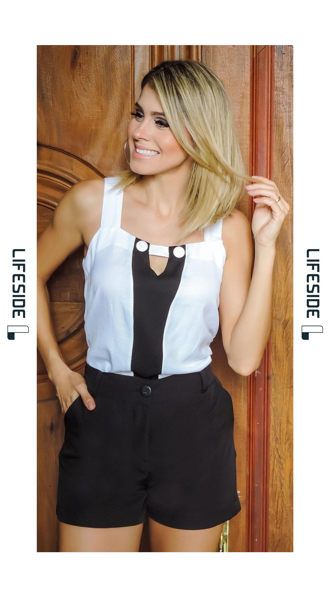 e3bc4ebe6 Blusa preto e branco. Blusa de verão. #ModaFeminina #LookDoDia #Looks  #ModaPrimaveraVerao #Lifeside #Lookbook #Moda #Fashion #OOTD  #SpringSummer2019 #Look ...