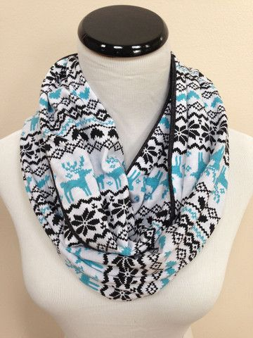 Tiffany Blue Fair Isle Infinity Scarf – Grace's Boutique | My ...