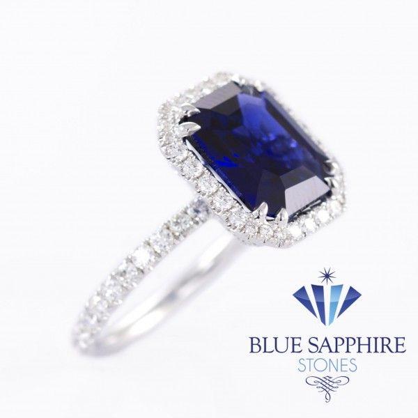 Royal Blue Diamond Engagement Rings