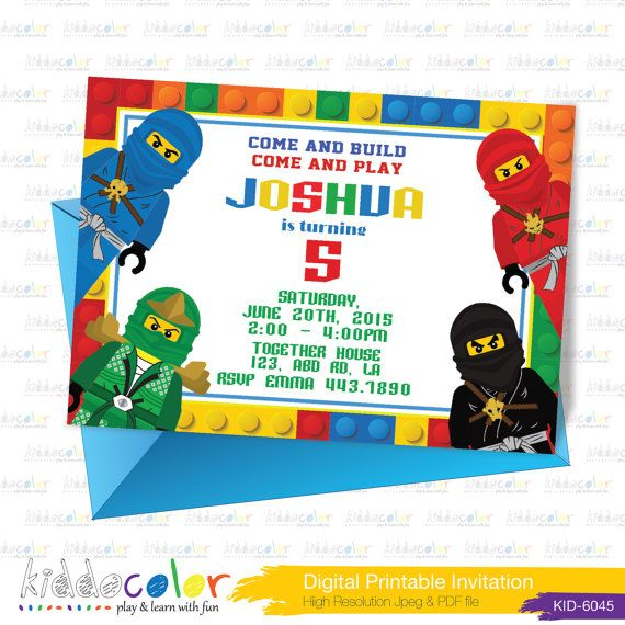 Digital printable ninjago invitation ninjago by kiddocolor jayden digital printable ninjago invitation ninjago by kiddocolor stopboris Gallery