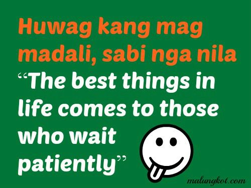 tagalog patience quotes inspirational quotes pinterest