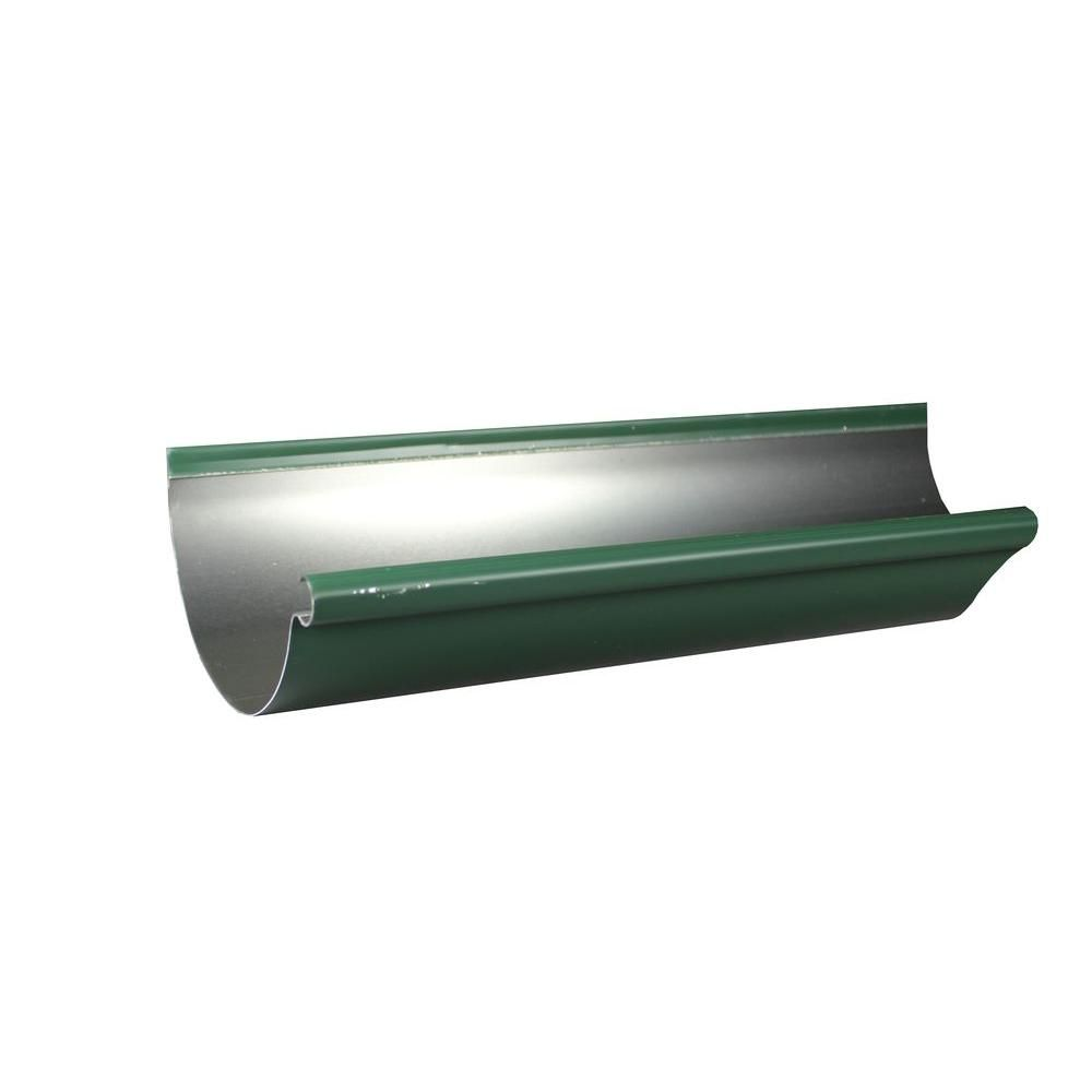 Spectra Metals 6 In X 10 Ft Half Round Forest Green Aluminum Gutter 6hrrtfg10 With Images Gutter Aluminum 10 Things