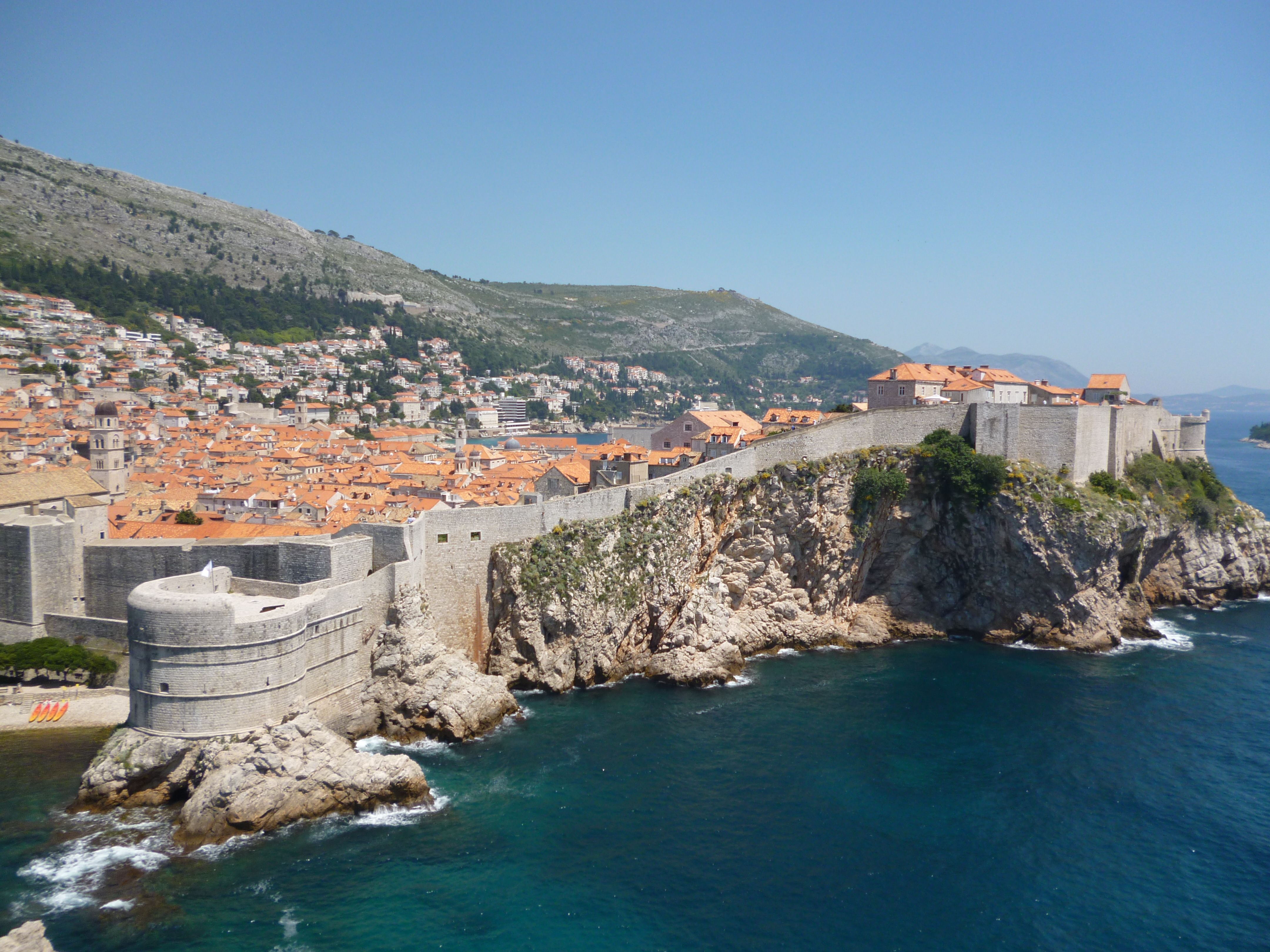 Dubrovnik Croatia This Was Taken From The Fort Looking Back At The Walled City Dubrovnik