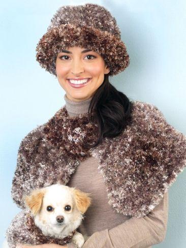 Capelet And Hat Yarn Free Knitting Patterns Crochet Patterns