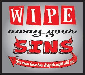 Bachelorette party Wipe away your sins favor devil by bysuzann
