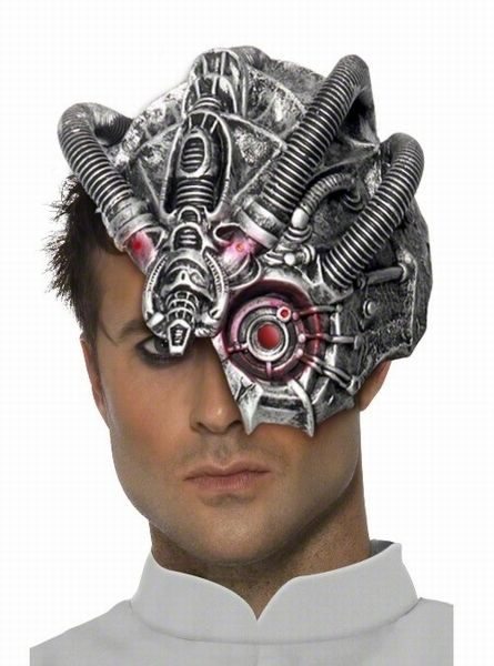 Roboter Maske Science Fiction - Klick schliesst das Pop-Up ...