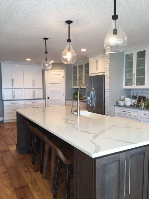 White Kitchen Cabinets Quartz Countertops natural light and #hanstone quartz tranquility to create bright