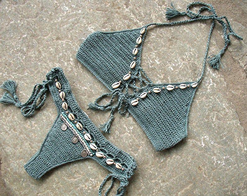 Bathing Suit Swimsuit Swimwear Crochet Brazilian Bikini Bottom Festival Clothing