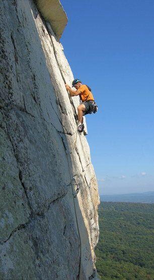 Rock Climbing The Trapps in The Gunks Shawangunks, near New Paltz, NY