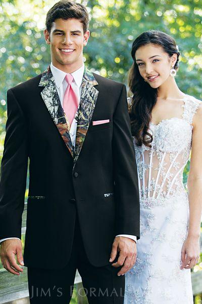 2 Button Notch Camo Jacket Wedding TuxedosCamo