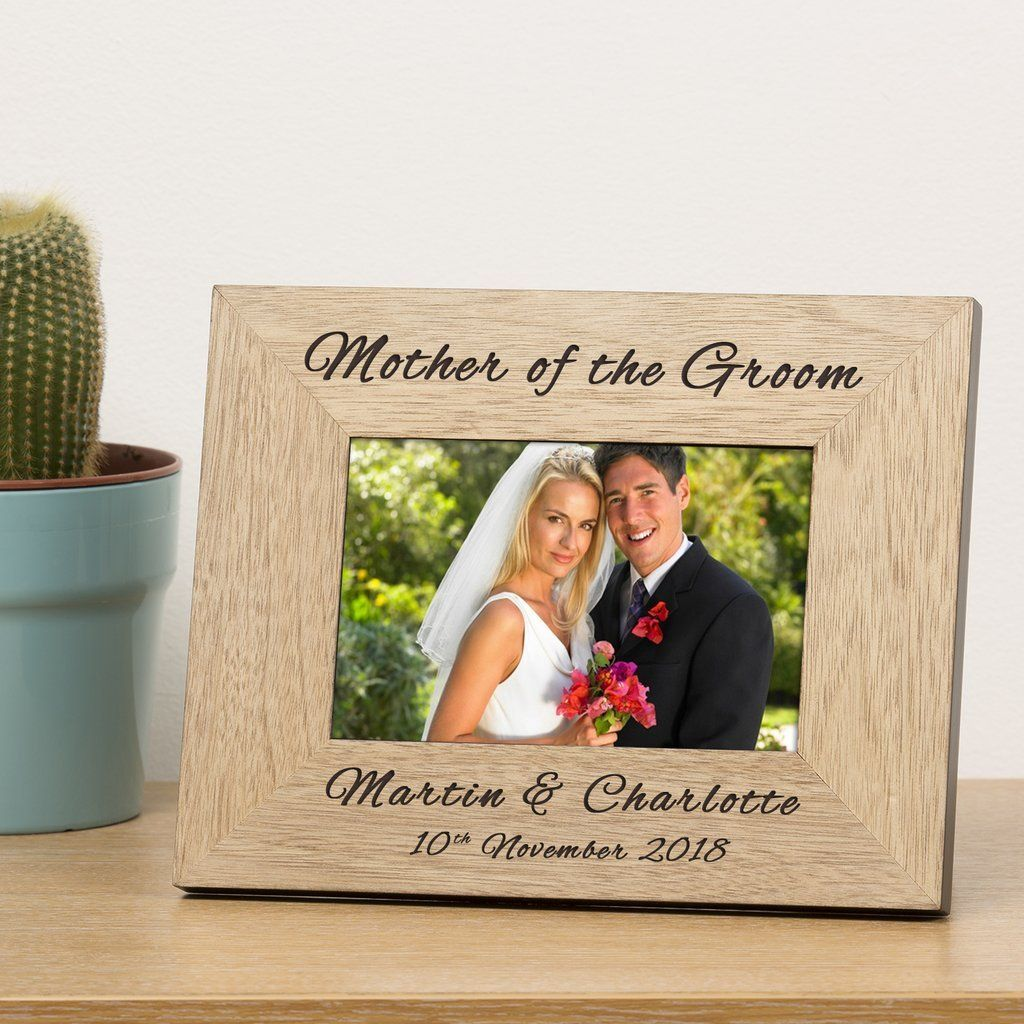 PERSONALISED WEDDING Role Wooden Frame Mother of Bride Groom Parents Bride Groom