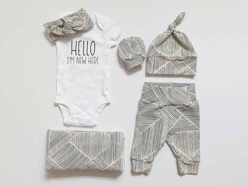 baby gift Light grey worth the wait baby bodysuit coming home set baby boy newborn outfit baby girl | neutral baby NB /& 3M