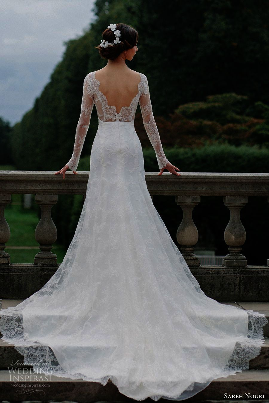 Lace wedding dresses pnina tornai backless sleeveless sweetheart