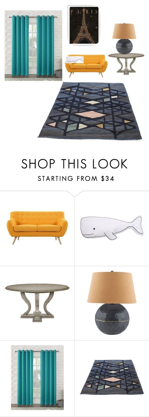 """Modern Home Living Room"" by gavwhite ❤ liked on Polyvore featuring interior, interiors, interior design, home, home decor, interior decorating, Madison, Thro, Lazy Susan and Sun Zero"