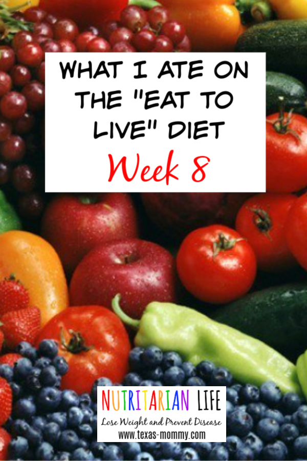 I ate Week 8 on the