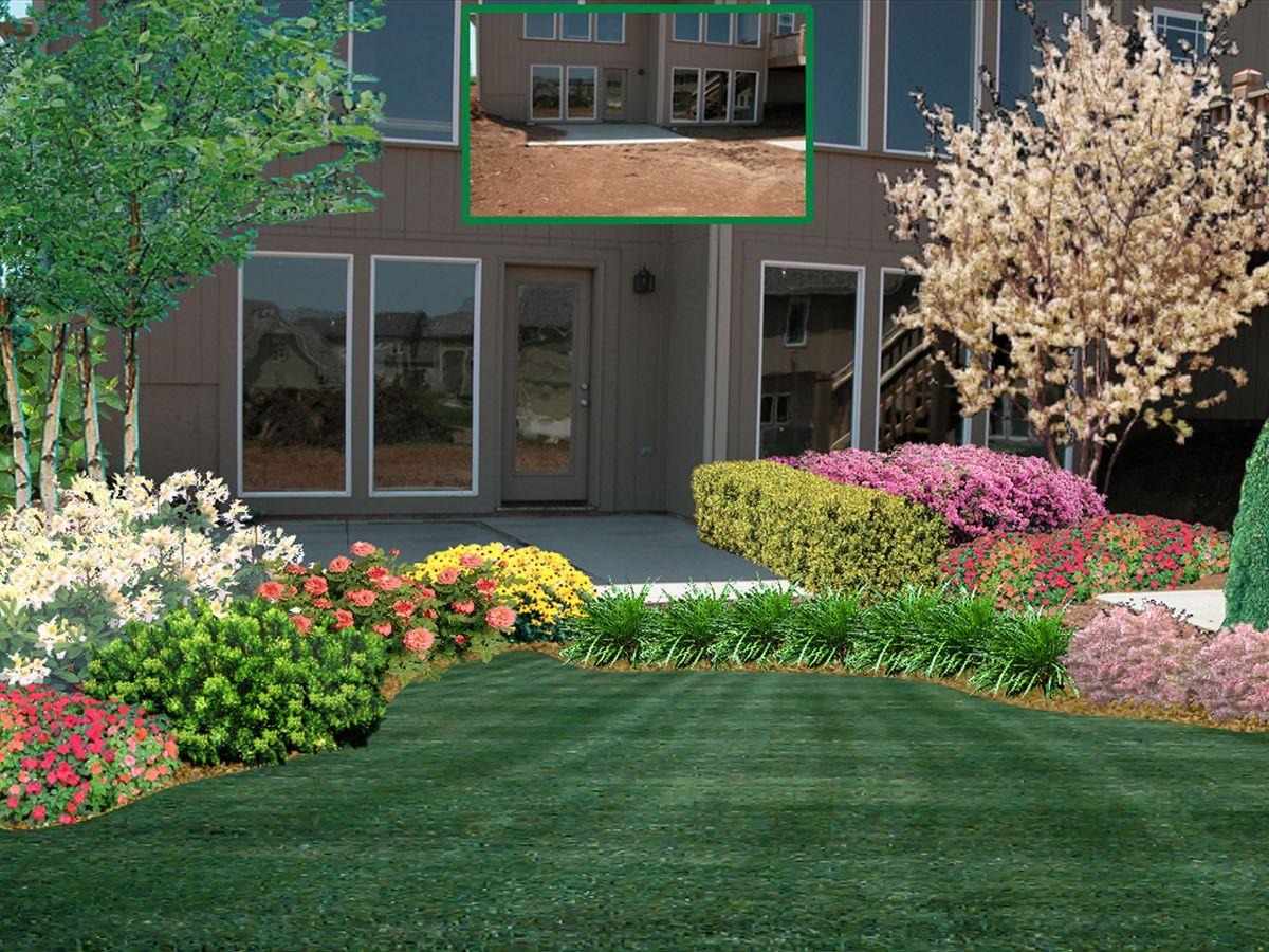 3D Landscape Design | Simple landscape design, Backyard ...