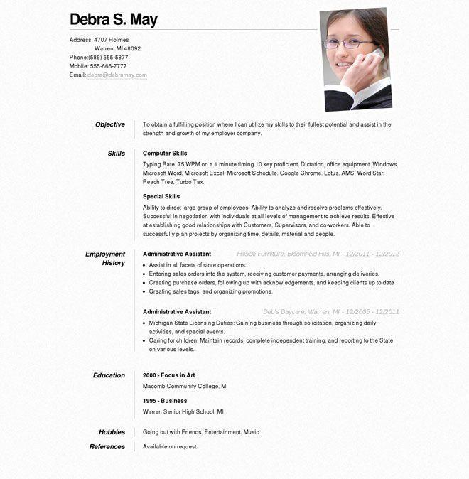 17 Terbaik ide tentang Online Resume di Pinterest Riwayat hidup - star resume format