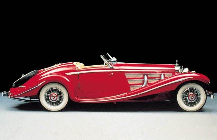 red convertible 1935 mercedes benz 540k