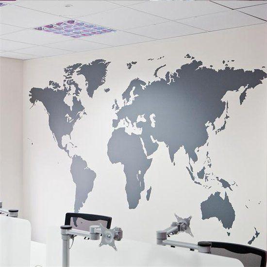 wereldkaart muursticker xxl geschikt voor woonkamer slaapkamer kantoor meer wereldbol poster kaart wereldmap world map wereld kaart