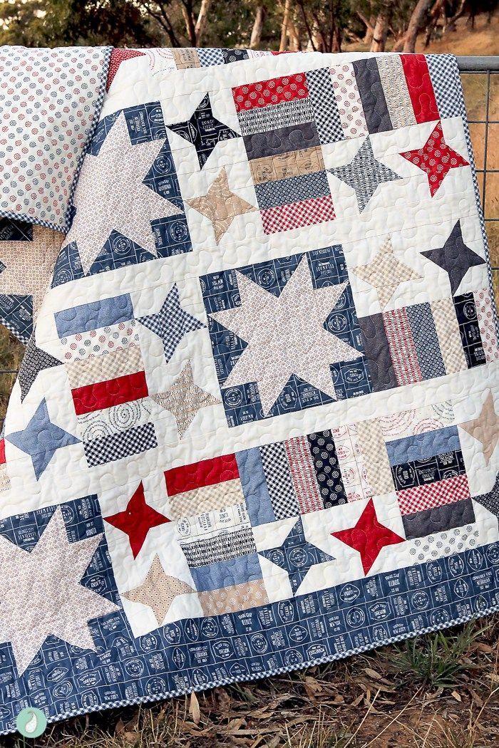 Spark Your Creativity | Star Quilts | Pinterest | Deckchen und Decken