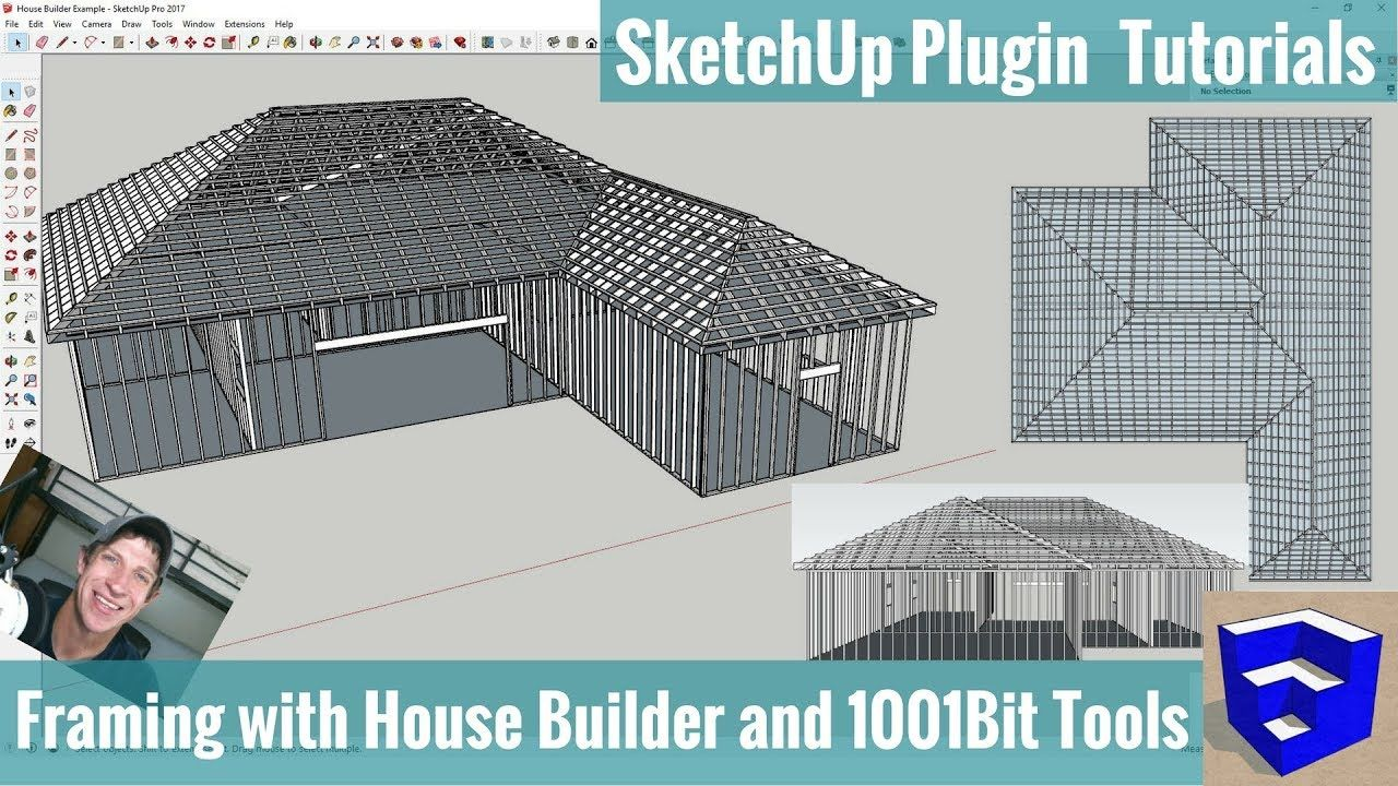 Modeling Framing In Your Sketchup Models With House Builder And 1001bit Tools The Sketchup Essentials Sketchup Model Home Builders Model Homes