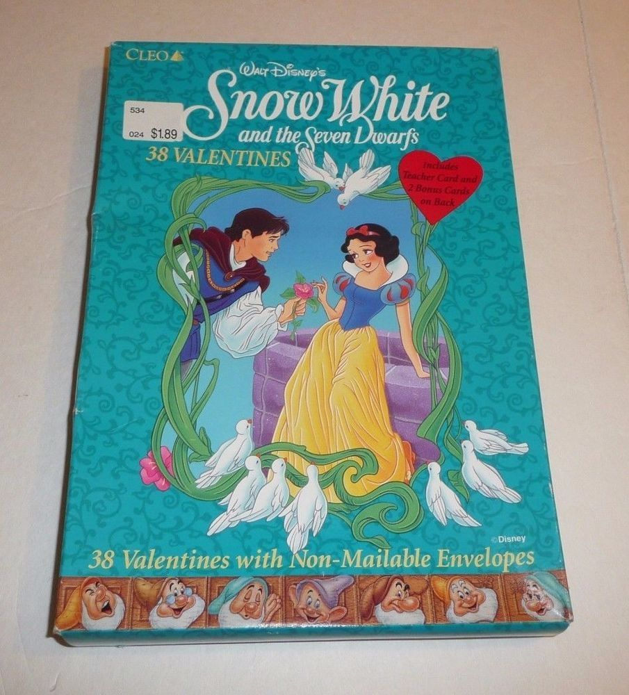 145a316287e52f Disney s Snow White and the 7 Dwarves vtg Valentine s Day Cards School  Classroom  CLEOINC