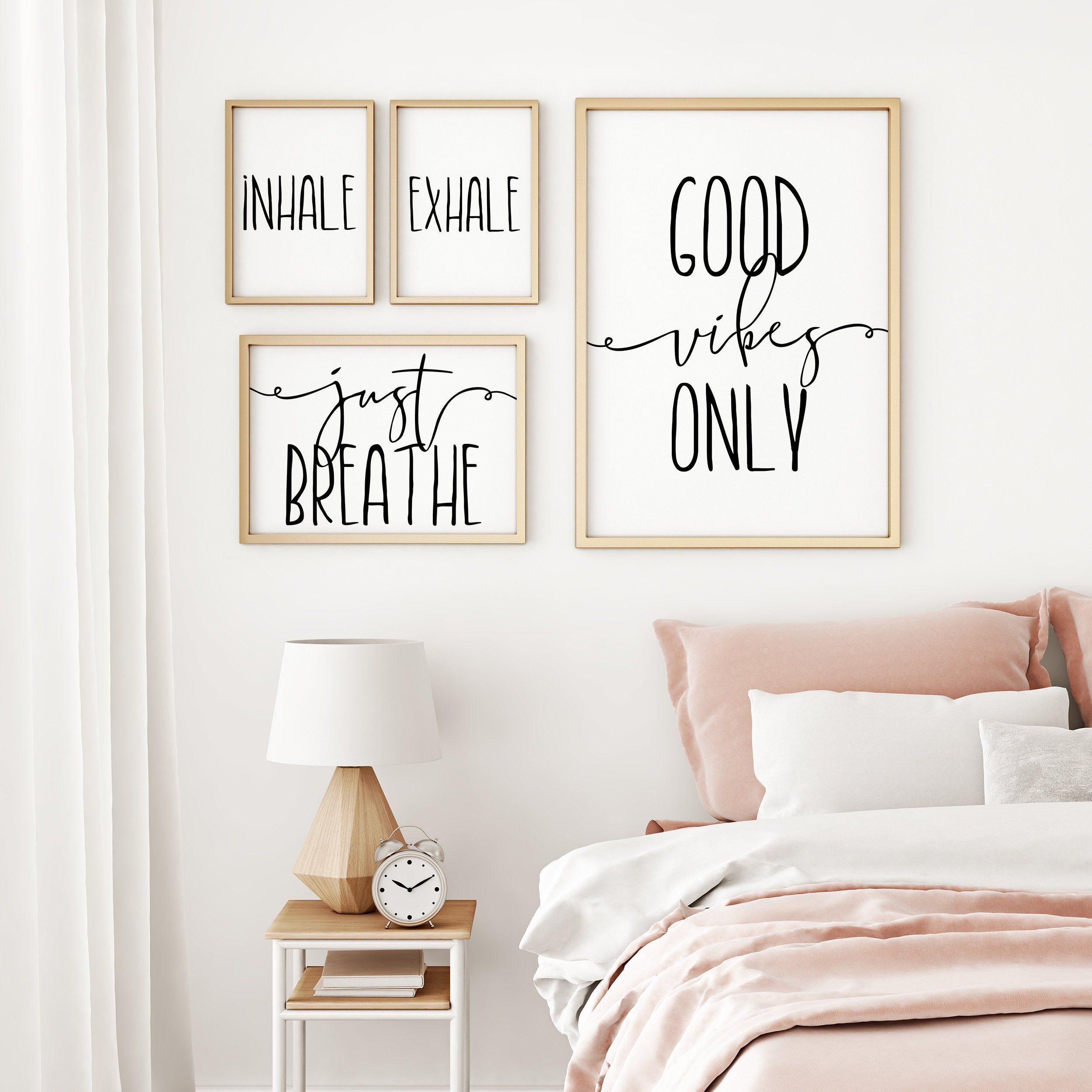Inhale Exhale Just Breathe Good Vibes Only Motivational Wall
