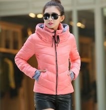 Down winter women jacket short design 2015 winter thickening cotton-padded clothing parka overcoat casual winter coat Plus size(China (Mainland))