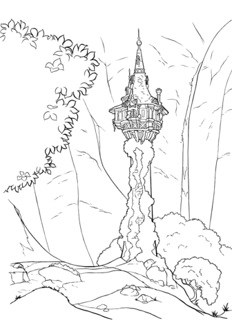 Rapunzel S Tower Coloring Page From Tangled Category Select From