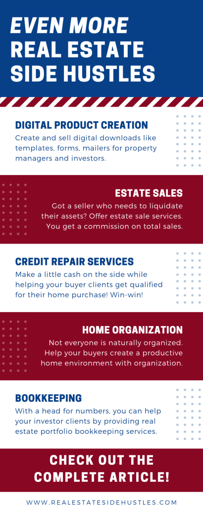 Make More Money In 2019 With These Real Estate Side Hustles Make More Money Real Estate Business Realtor Marketing