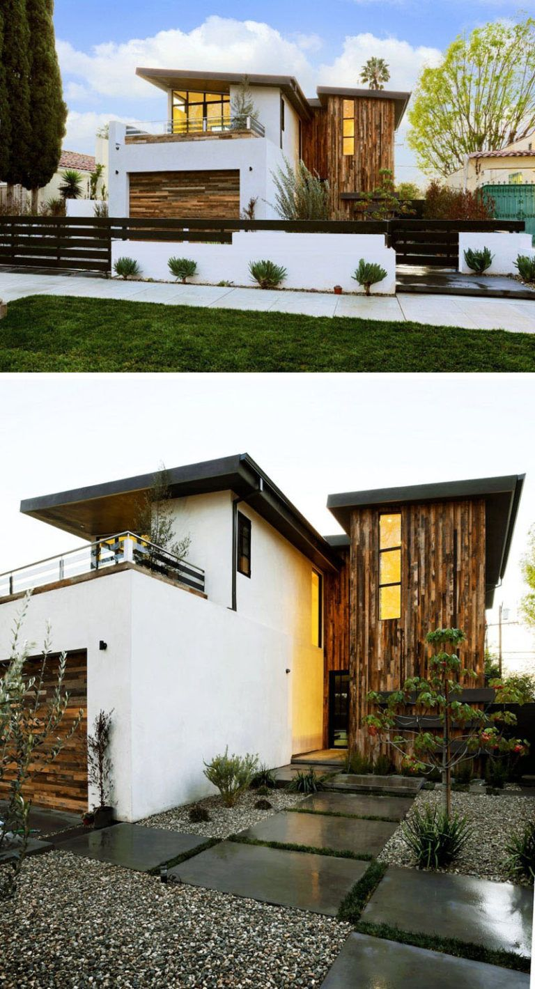 16 Examples Of Modern Houses With A Sloped Roof House Exterior Roof Design Modern House Exterior