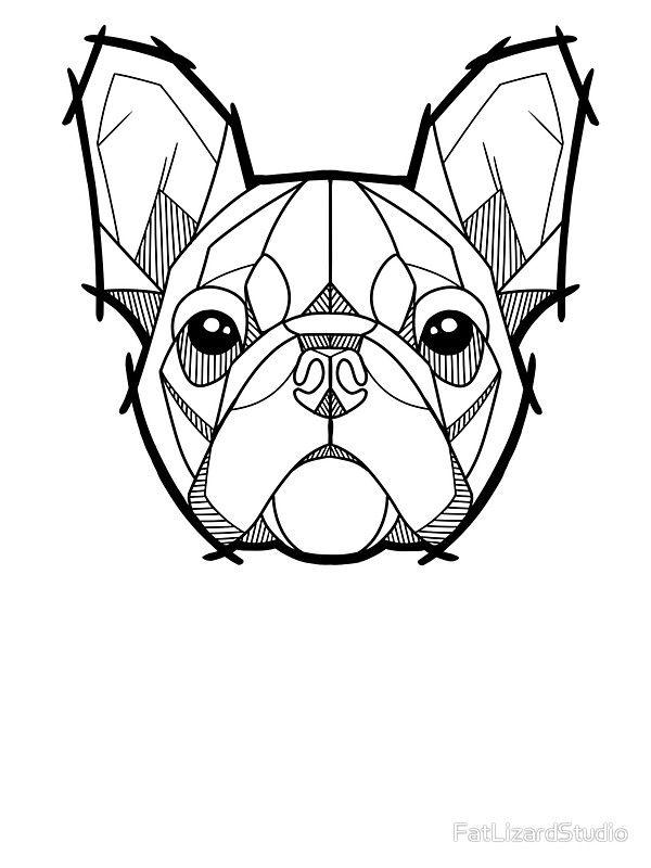 The French Bulldog\' Sticker by FatLizardStudio | Para pintar ...