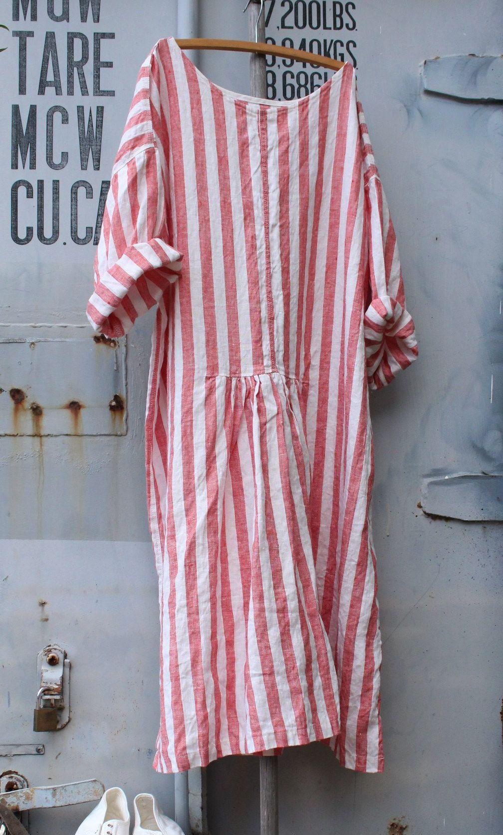 buy online 0934c bc365 Linen Beach Dress MegbyDesign   camicioni   Vestiti, Abiti a ...