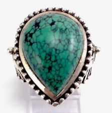 Vintage 925 Sterling Silver  Chunky Turquoise Stone Teardrop Flower Ring http://www.ebay.com/itm/Vintage-925-Sterling-Silver-Chunky-Turquoise-Stone-Teardrop-Flower-Ring-/141610508494?pt=LH_DefaultDomain_0&hash=item20f8a4e0ce