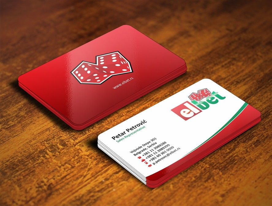 freelance Business card design for Elbet by rajagee | Business Card ...