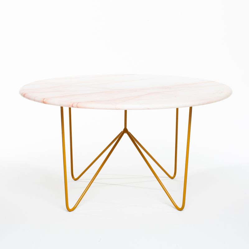 Sean Woolsey | Filetto Rosso Marble Coffee Table