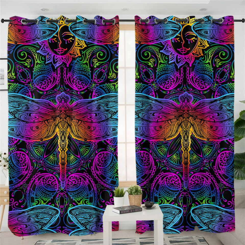 Dragonfly Kitchen Curtains Curtains Living Room Kitchen Curtains Blackout Curtains