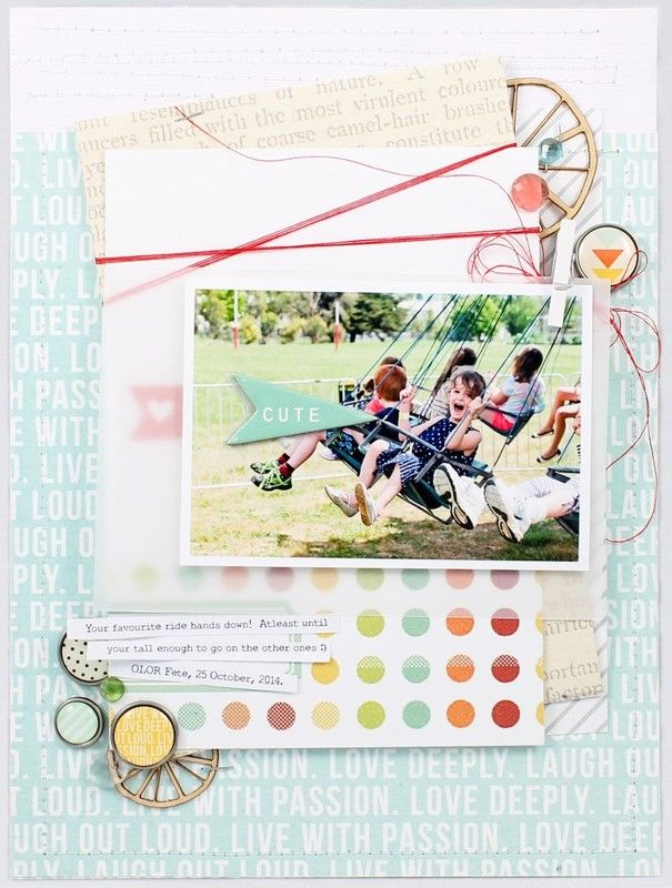 #papercraft #scrapbook #layout. Cute by emma_kw at @studio_calico