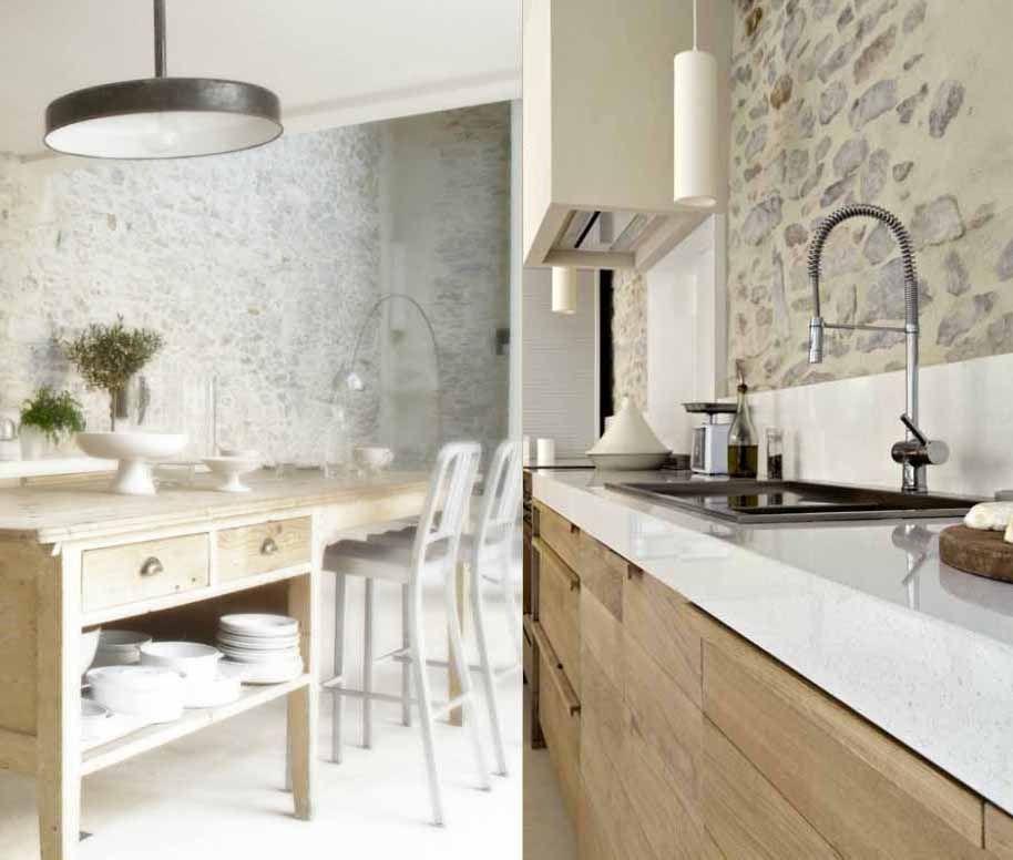 Une cuisine rustique et moderne Décoration du0027 Intérieur - cuisine dans veranda photo