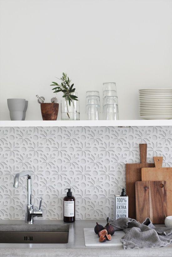 Kitchenwalls Backsplash Wallpaper Keukenbehang White 3d Wicked