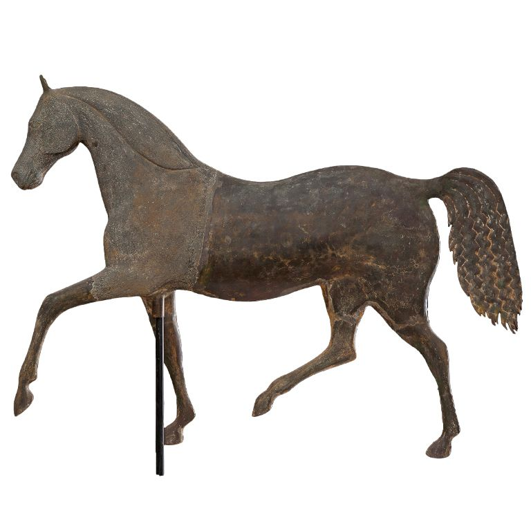 Antique Prancing Horse Weathervane