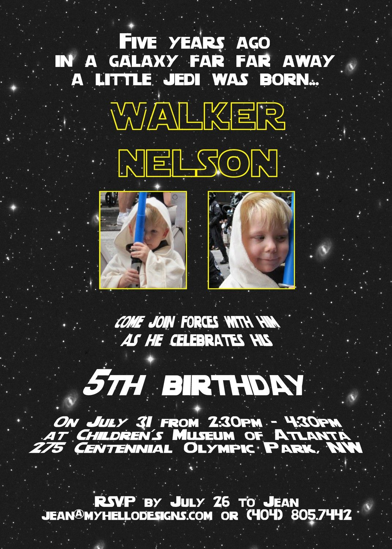 star wars birthday invitations wording