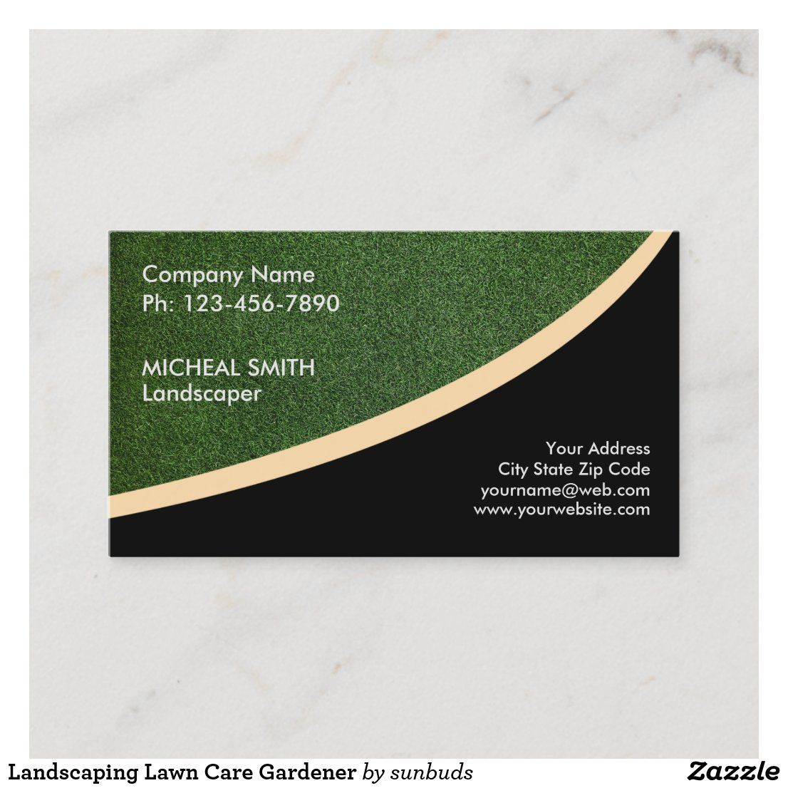 Landscaping Lawn Care Gardener Business Card Zazzle Com In 2021 Lawn Care Business Cards Lawn Care Landscaping Business Cards